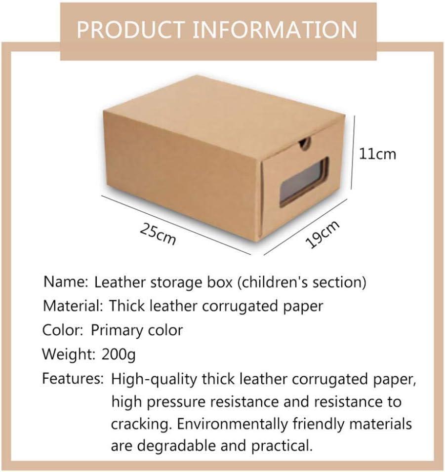 N/X cajón de cartón Transparente Caja de Zapatos receptáculo economía de Espacio Organizador de Almacenamiento contenedor caja3pcs-_Zapatos para niños