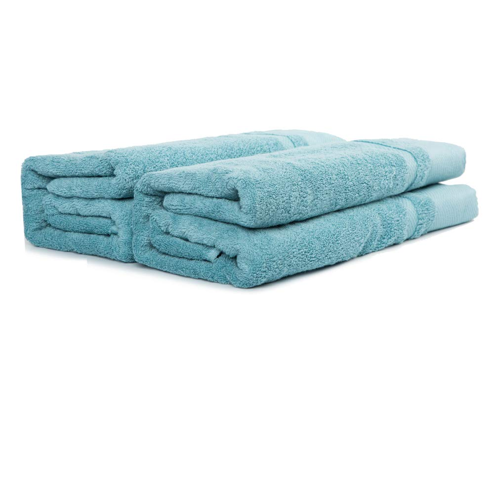 """sense gnosis Bath Towels Ultra Absorbent Quick Dry 100 Percent Terry Cotton Towels Luxury Super Soft Towel Set for Everyday Use, Home, Gym, Pool (2 Pack, Turquoise, 27.5'' X 55"""") by sense gnosis"""