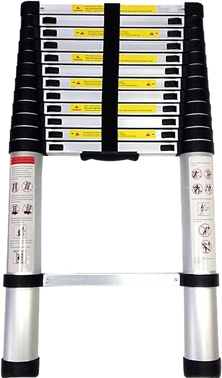 Keraiz Escalera telescópica Extensible | Escalera Plegable Multiusos de Aluminio | 2,6 m, 3,8 m y 4,4 Metros: Amazon.es: Hogar