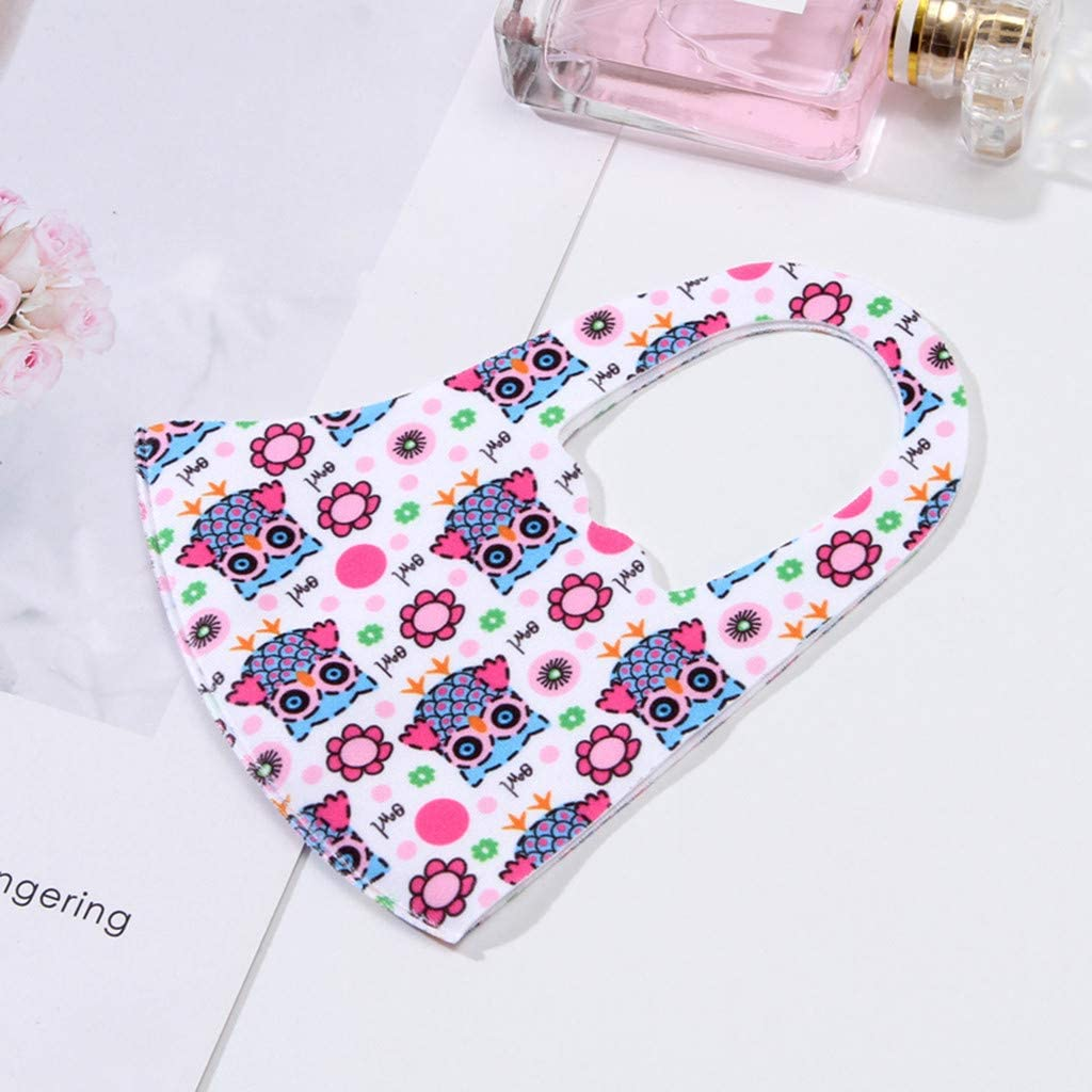 WTA 10Pcs Face Bandanas Breathable and Anti-Haze Dust for Kids by Wugonta Reusable and Breathable