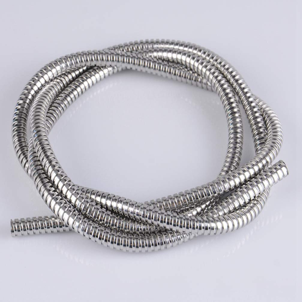 1pcs 304 Stainless Steel Metal Threaded Hose Metal Cable Sleeve Tube Metal