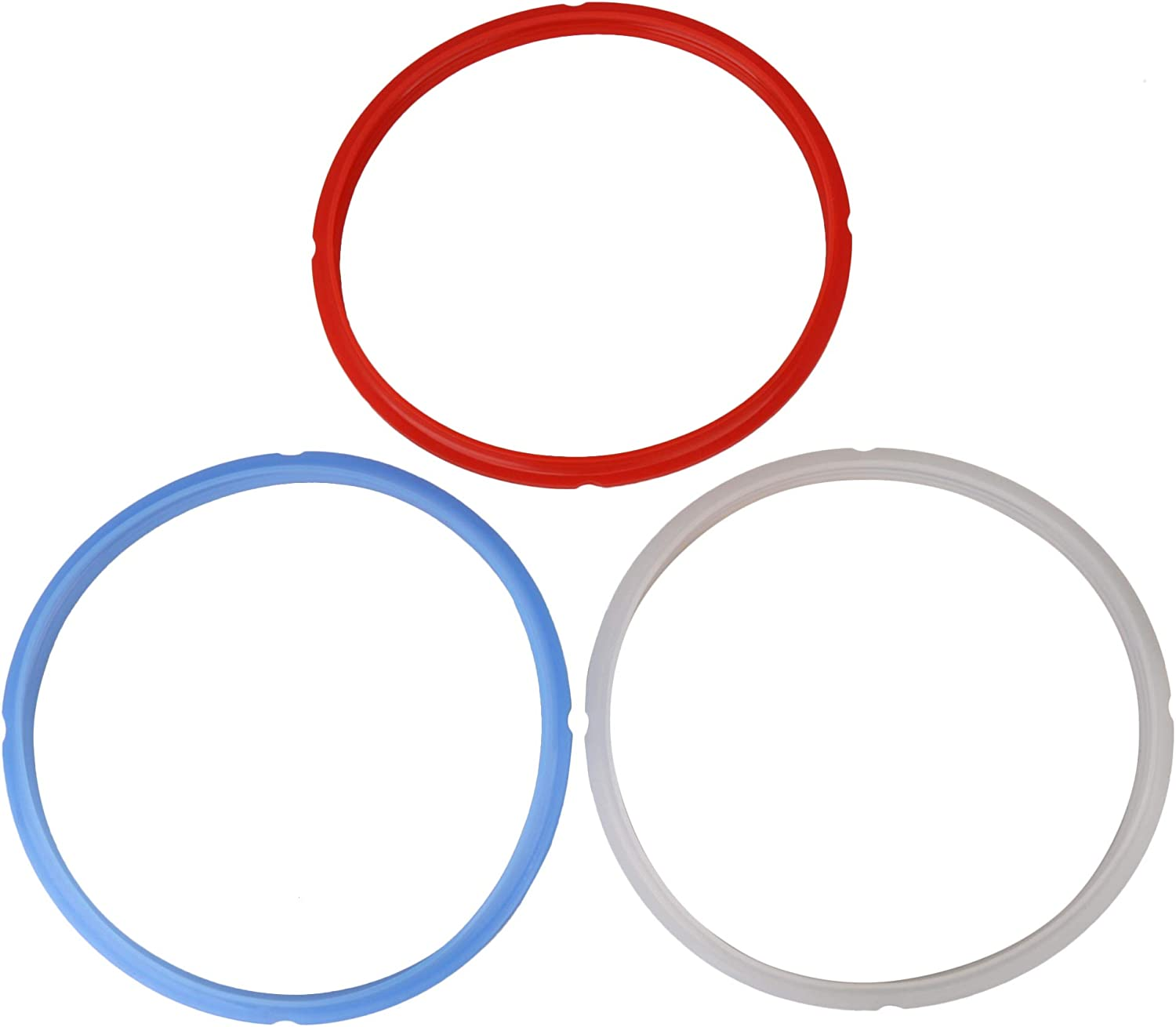 Mxfans 3 x Silicone Seal Ring Gaskets Replacement for Pressure Cooker 8Qt