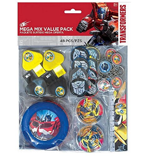 e Mega Mix Value Party Favor Pack ~ Birthday Party Supplies ()