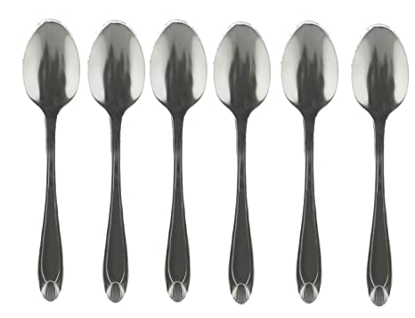 Shine Teaspoon - Juego de cucharas de té (12 Unidades, Acero Inoxidable)