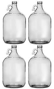Glass Jug, 1 gal (Pack of 4)