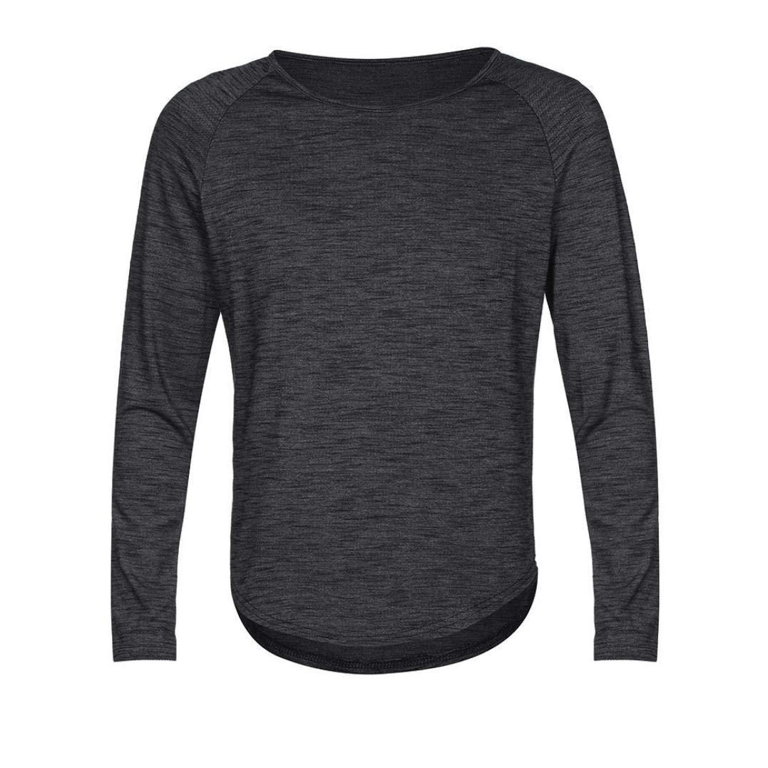 Limsea 2018 Fashion Men's O Neck Slim Fit Long Sleeve Muscle T-Shirt Tops Blouse(Black,2XL(US:12))