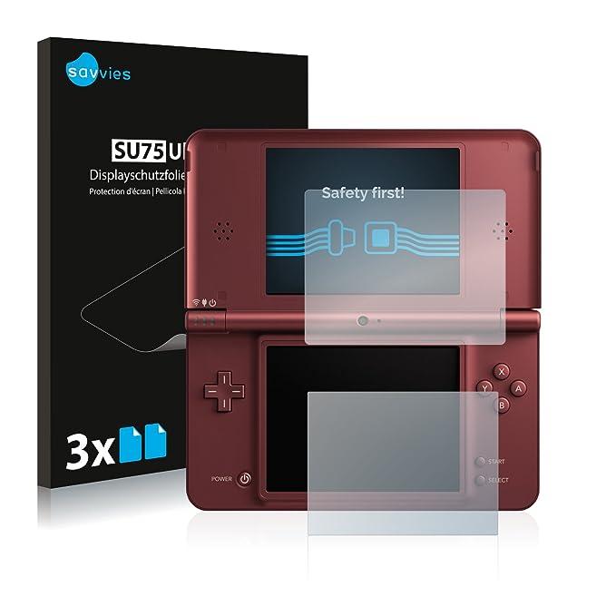 savvies Protector Pantalla Compatible con Nintendo DSi XL (6 Unidades) Pelicula Ultra Transparente