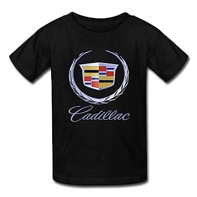 coolstyle kids cadillac car logo t shirt blackxs