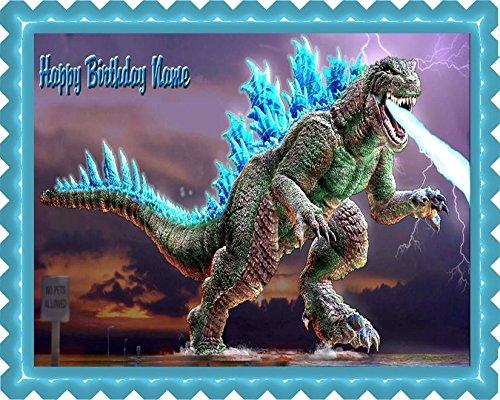Godzilla - Edible Cake Topper - 10'' x 16'' (1/2 sheet) rectangular
