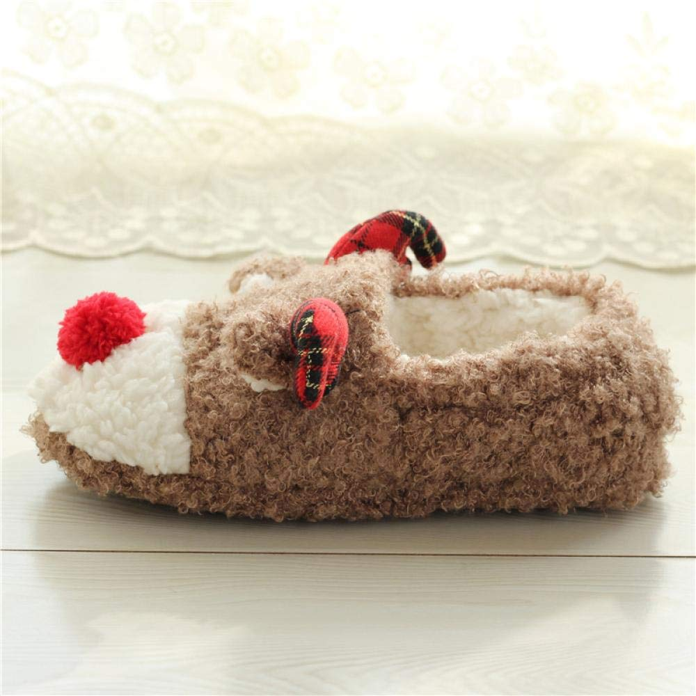 Christmas Deer slippers,Fashion Cotton Slippers,Non Slip Indoor Shoes.
