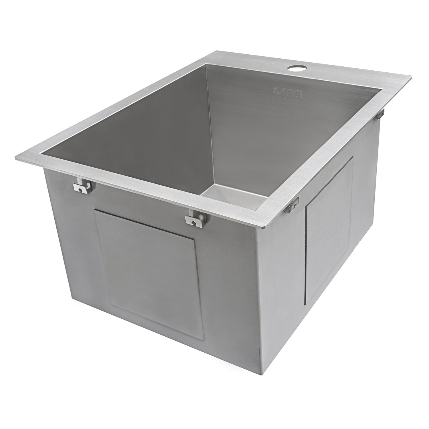 Ruvati 15 x 20 inch Drop-in Topmount Bar Prep Sink 16 Gauge Stainless Steel Single Bowl - RVH8110 by Ruvati (Image #6)