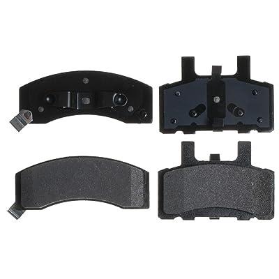 ACDelco 14D370MH Advantage Semi-Metallic Front Disc Brake Pad Set with Hardware: Automotive