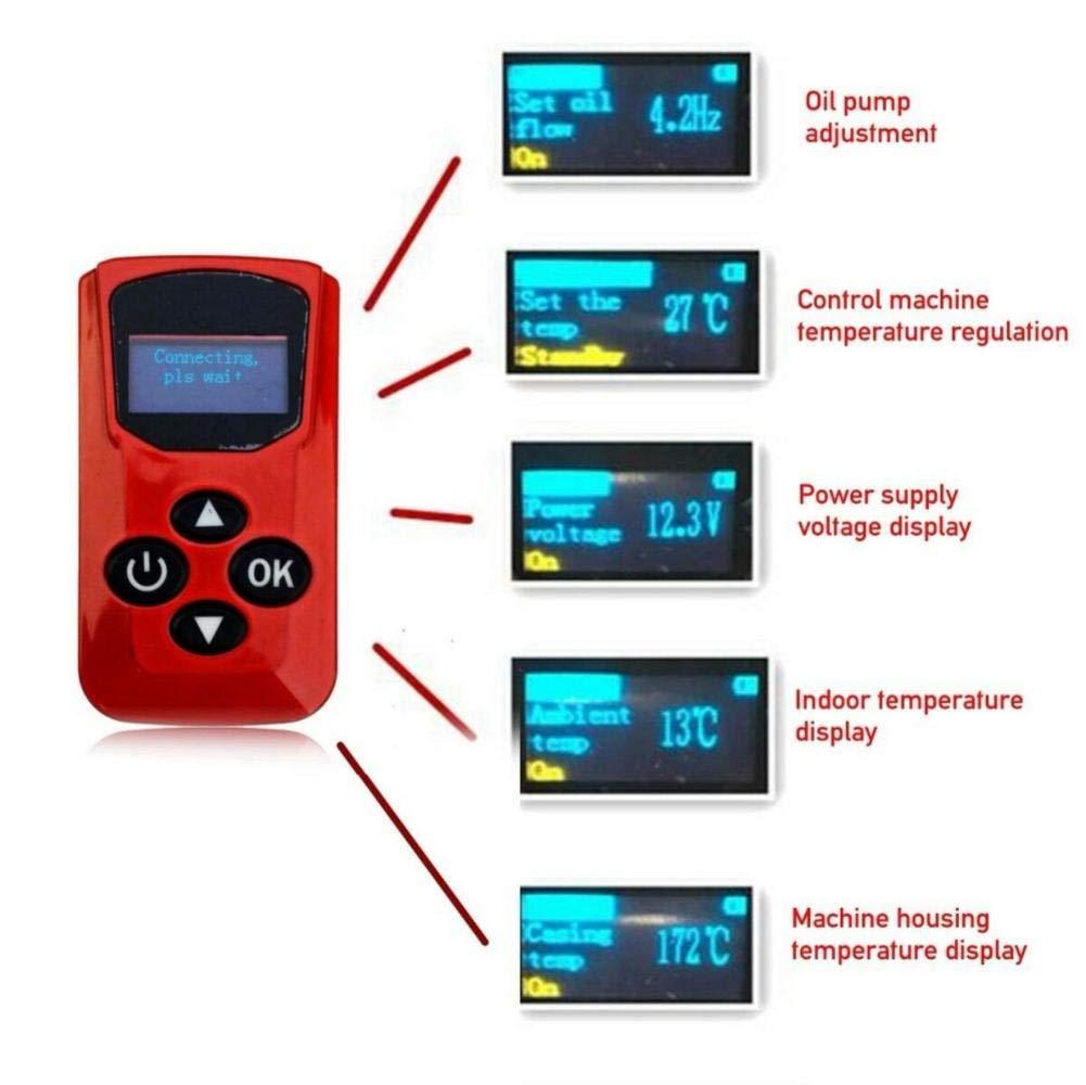 45 /× 25 /× 26.5CM // Blu, Rosso Camper Rimorchio Camion Roulotte 5KW 12V // 24V Aria Diesel Riscaldatore con Telecomando//Display LCD Monitor per RV Barche Riscaldatore dellautomobile