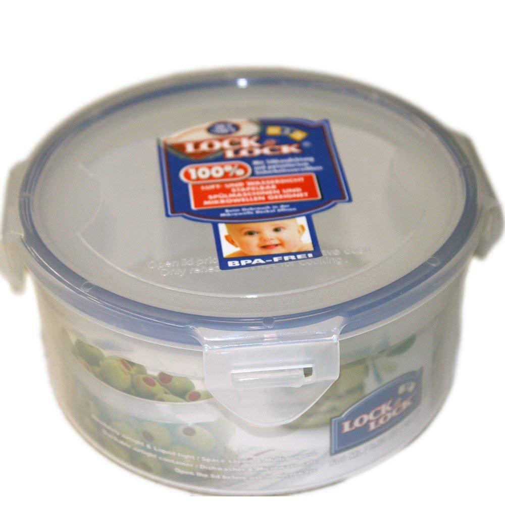 Haut en Plastique Transparent Lock /& Lock Bo/îte herm/étique en diff/érentes Tailles bo/îte Alimentaire Plastique Rond 0,7 l 1 pi/èce bo/îte de Conservation