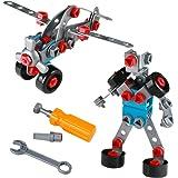 Juguetes de Construcción Ensamblaje Avión y Robot Modelos de 2 en 1 3D Puzzles para Niños más de 3 Años