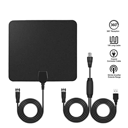 Amazon.com: HDTV Antenna, FOME 75 to 90 Mile Range Indoor TV Antenna on
