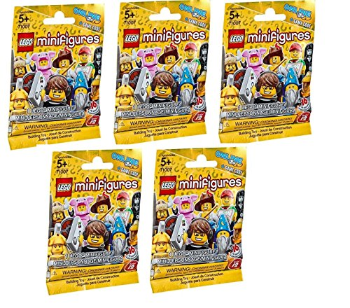 LEGO Minifigures 71007 Series 12 Random Set of 5 Packs (Styles May Vary)