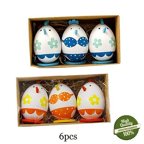 Morbuy Ostereier Deko 6pc Osterdekoration Kinder Eier