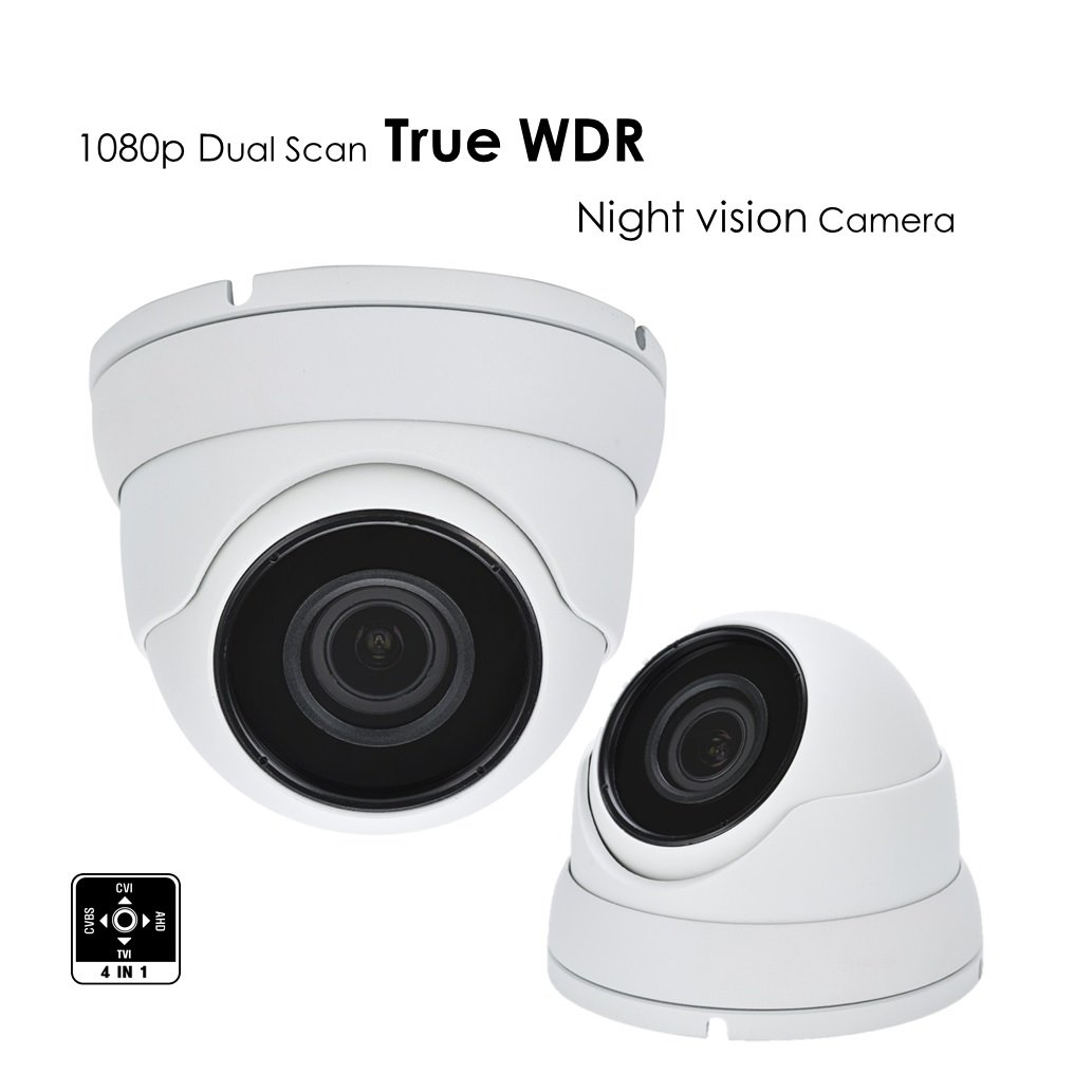 American Electro Devices AED 1080P TVI AHD CVI Analog 1 2.8 CMOS SENSOR TRUE WDR, 4 in 1 SMD IR DOME CAMERA WITH 3MP 2.8MM-12MM MOTORIZED PREMIUM LENS AND TINTED GLASS