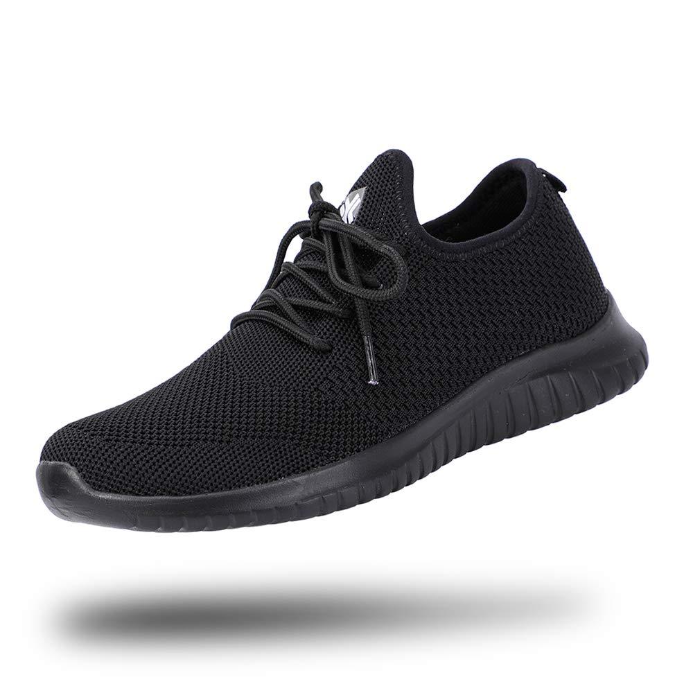 All Black Knit Aleader Women's Lightweight Mesh Sport Running shoes