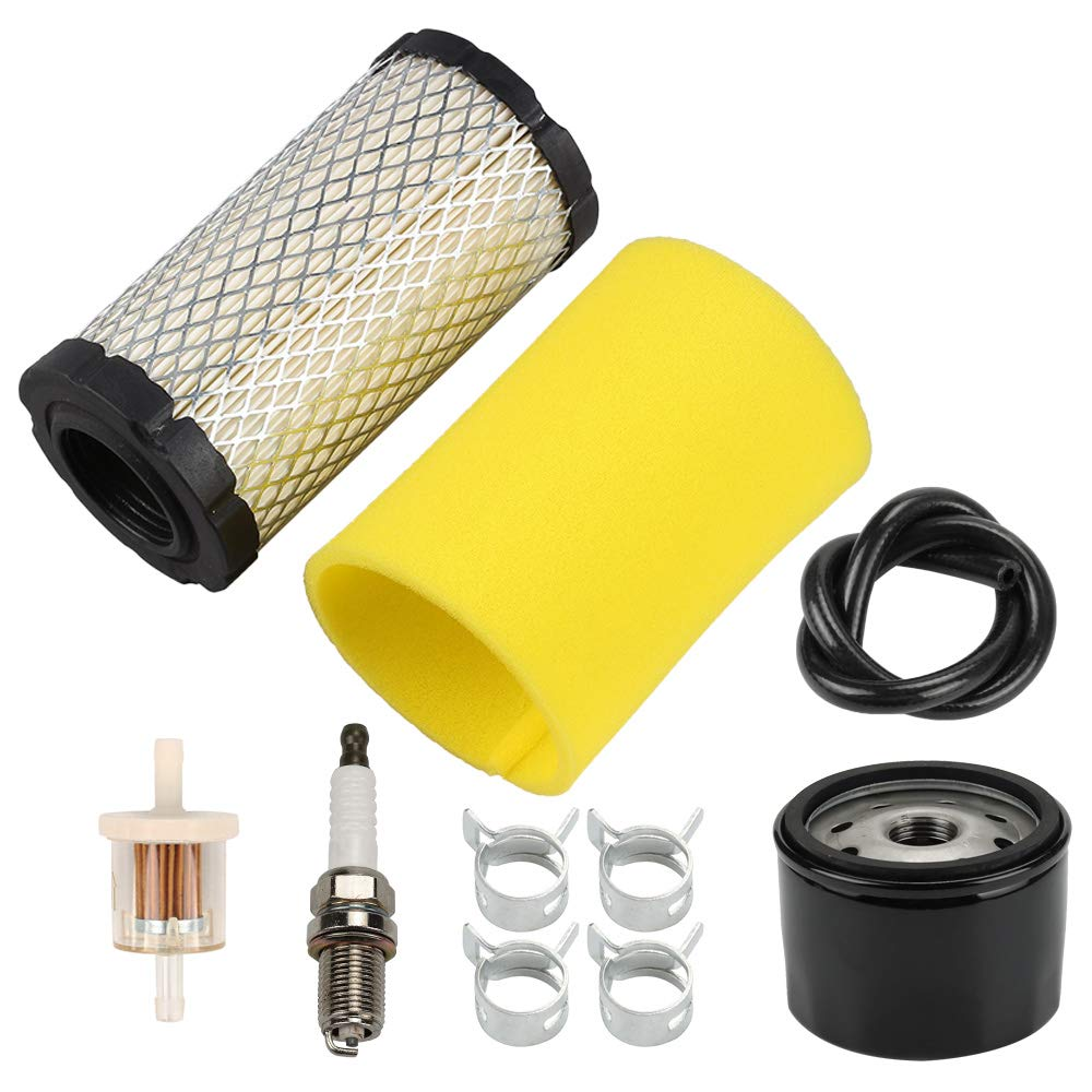 Venseri 793569 793685 Air Filter with Pre Filter Tune-Up Kit for Briggs & Stratton Intek 20-21 Gross HP John Deere MIU11511 GY21055 LA125 LA115 D100 D120 D110 L100 Lawn Mower Tractor