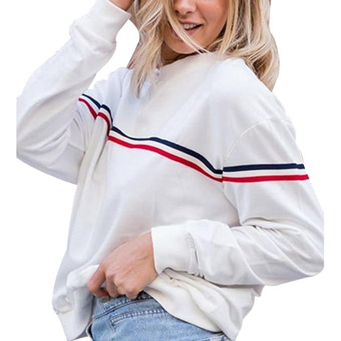 LILICAT Damen Einfarbig Pullover Rundhals Sweatshirt Einfarbig Kapuzenshirt  Oberteile Lässigen Langarmshirt Frauen Lose Crop Top Mode e24ad45daa