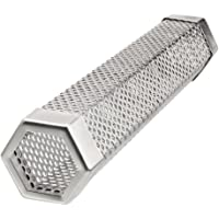 """OneBom Pellet Smoker Tube 12"""", Perforated BBQ Cold & Hot Smoke Generator, 4 to 6h Billowing Smoke for Gas Electric Grills"""