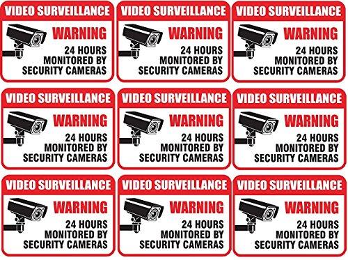 ve Video Surveillance Sign Vinyl Decal Sticker Indoor & Outdoor Use Waterproof (Video Surveillance Decal)