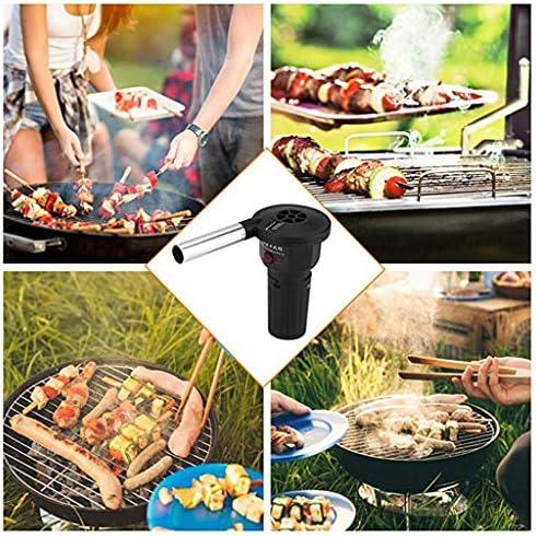 F Fityle Ventilateur à air Ventilateur BBQ Outil Barbecue Pique-Nique Charbon