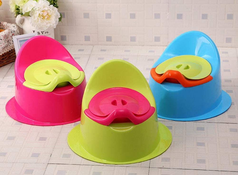 Bledyi Potty Chair Fun Pot dapprentissage portable pour b/éb/é avec pot int/érieur amovible avec couvercle et dossier haut confortable pour lapprentissage de la propret/é de votre gar/çon ou fille