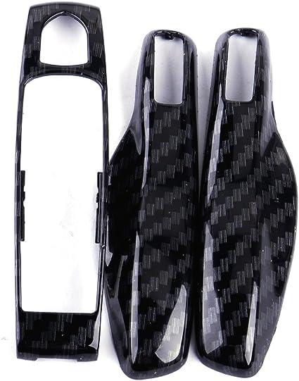 Red M.JVisun Genuine Carbon Fiber Cover For Porsche 911 Porsche Boxster Fob Remote Key New Car Key Fob Case Protector For Men Fob Cover For Women 100/% Carbon Fiber Case For Porsche Key Fob