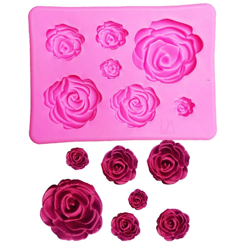 TrifyCore Rose Flower Silicone Clay Soap Mold Mould Fondant Sugarcraft Cake Decorating
