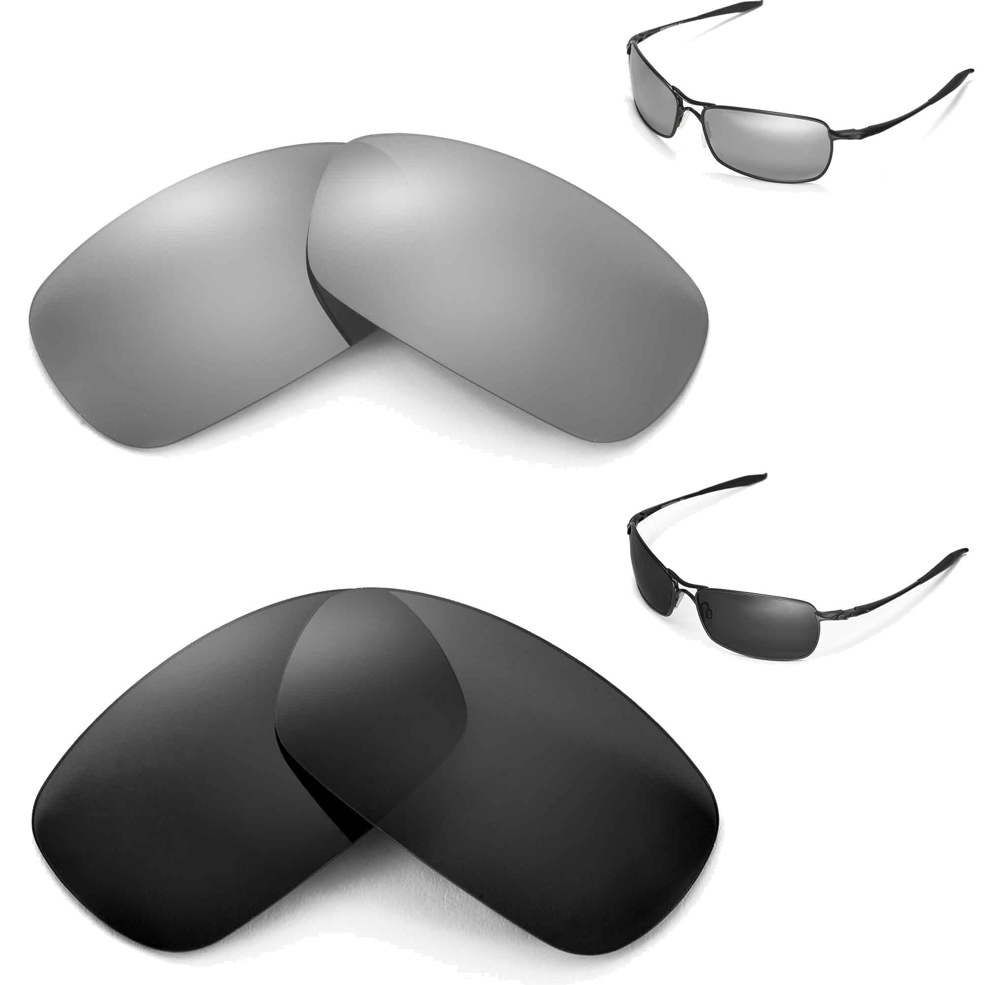 New Walleva Polarized Black + Titanium Lenses For Oakley Crosshair 2.0 (2010 version)