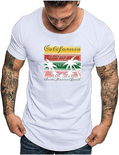 Subfamily Camiseta de Hombre Camisetas con Frases Originales Playa Manga Corta Verano de Camisetas Estampadas Personalizada Casual tee Shirt, algodón Online Camisa Negra, Talla Grande: Amazon.es: Ropa y accesorios