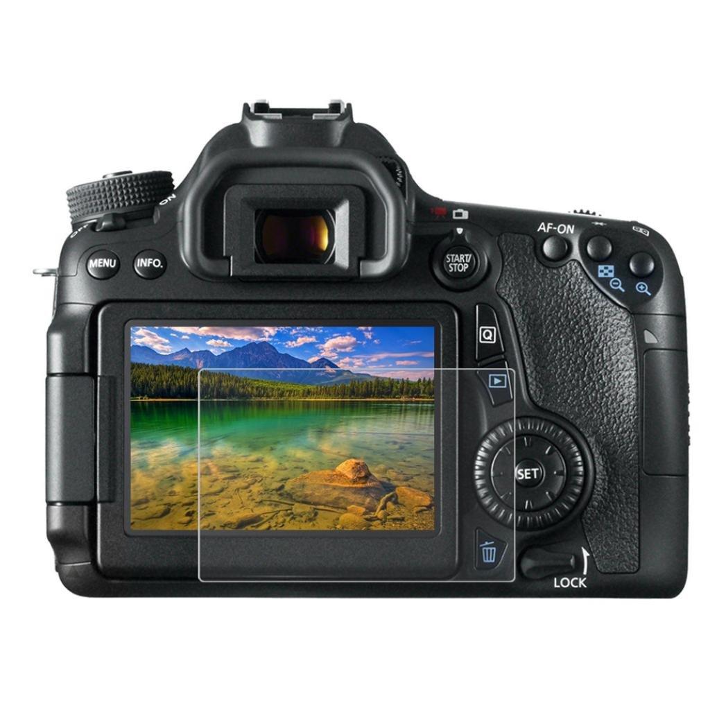 Sannysis Protector de pantalla para Canon EOS 650D/70D/700D/750D/760D/80D Cámara del Protector de Vidrio Templado Óptica Anti-cero 9H antideslumbrante El vidrio para Cámaras Digitales DSLR