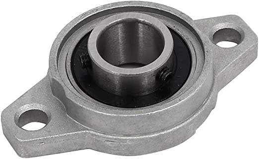 FL002 15mm Bore Zinc Alloy 2-Bolt Self-aligning Flange Mounted Ball Bearing