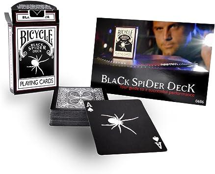 Bicicleta araña negra cubierta jugando a las cartas Bicycle Black ...