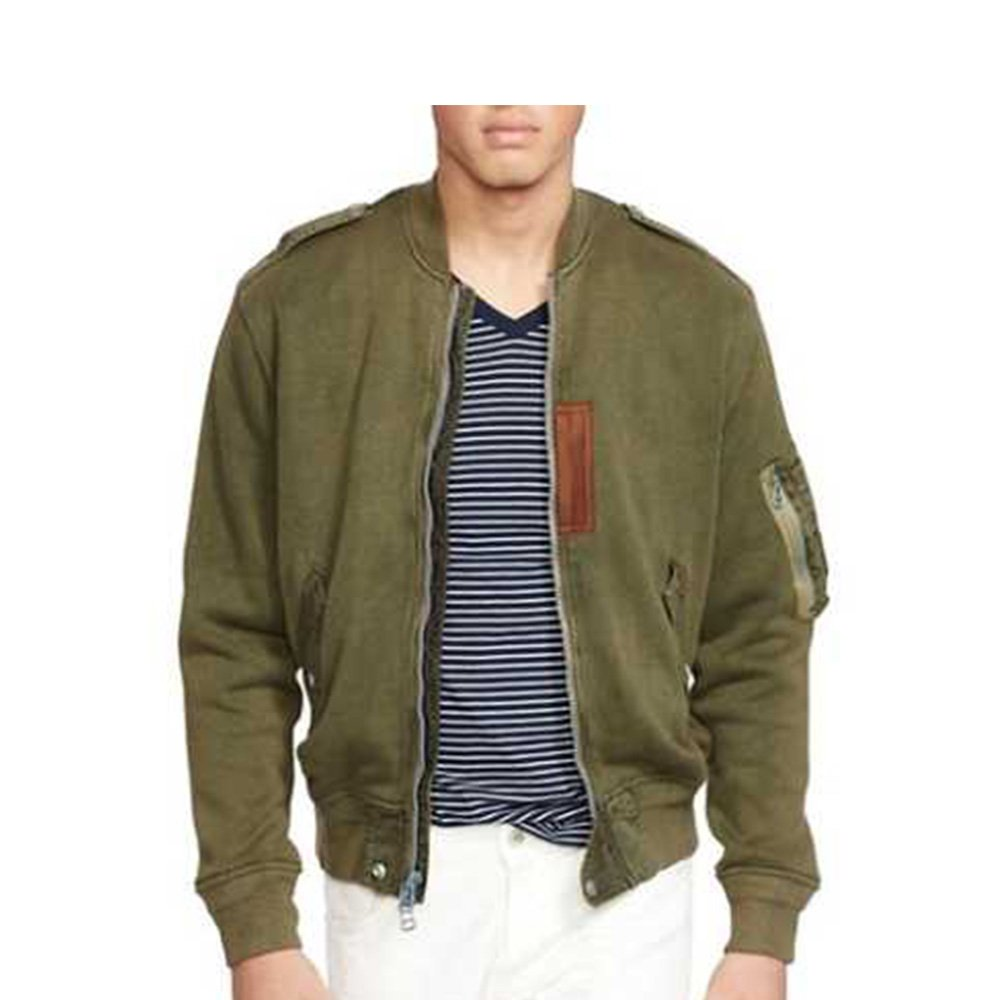 best quality for exceptional range of styles and colors order Ralph Lauren Men's Cotton Bomber Jacket (Small) at Amazon ...