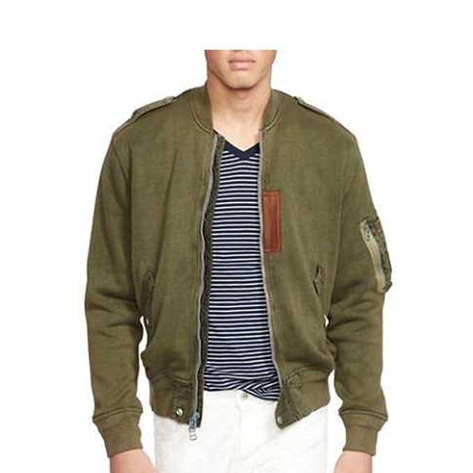 Amazon.com: Ralph Lauren algodón para hombre chamarra de ...