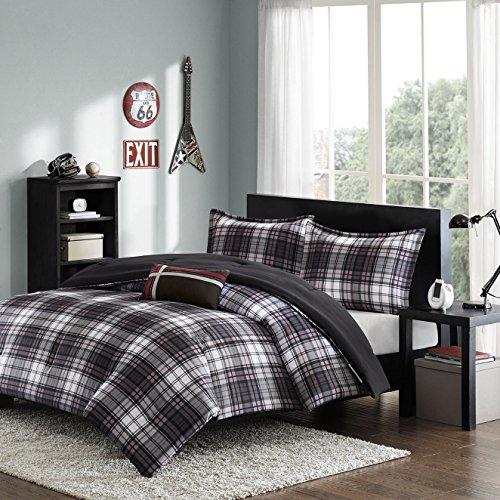 Mizone Harley 4 Piece Comforter Set, Full/Queen, Black