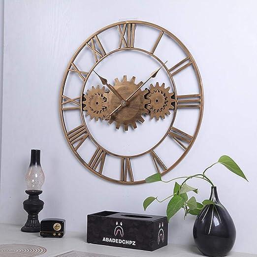 BOPP Reloj de pared para exteriores, resistente a la intemperie, 60 cm, para jardín, exteriores de hierro, para jardín, silencio de engranajes, resistente al agua, apto para paredes exteriores, B: Amazon.es: Jardín