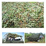 FuriGer Camouflage Net Cover,Lightweight Car Cover Camo Net for Camping Military Hunting Shooting Hide Fishing Shelter,Party Decoration on Halloween Christmas,Jungle Sunscreen Net,13ftx16ft (4mx5m)