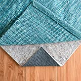 "RUGPADUSA - Basics - 5' Round - 1/4"" Thick - Felt + Rubber - Protective Non-Slip Rug Pad - Cushioning Felt for Added Comfort - Safe for All Floors and Finishes - Cut to Size for a Perfect Fit"