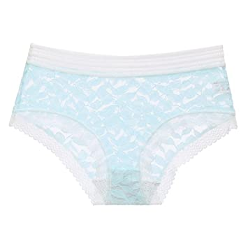 Keep Encaje Lado Dulce Chica Linda Ropa Interior algodón triángulo Ropa Interior Femenina Azul