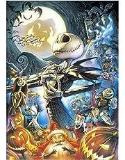 HoHome 5D Diamond Painting,Halloween Skull Pumpkin 5D Full Diamond Embroidery Painting Cross Stitch Decor