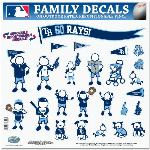 MLB Tampa Bay Devil Rays Large Family Decal Set