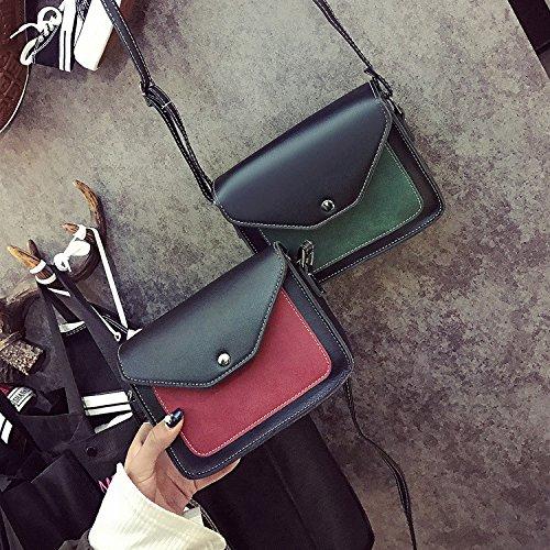 bolsos moda bandolera diagonal pequeño golpeó green coreana señoras Hombro de bolso diagonal azul de cuadrado YIUXB color bolso Sqw5FBz