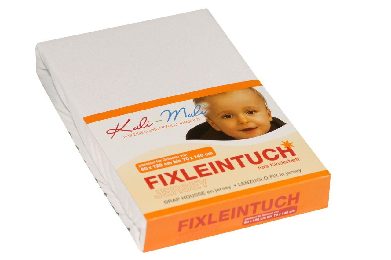 Kuli muli fixleintuch jersey 90 45 weiss: amazon.de: baby