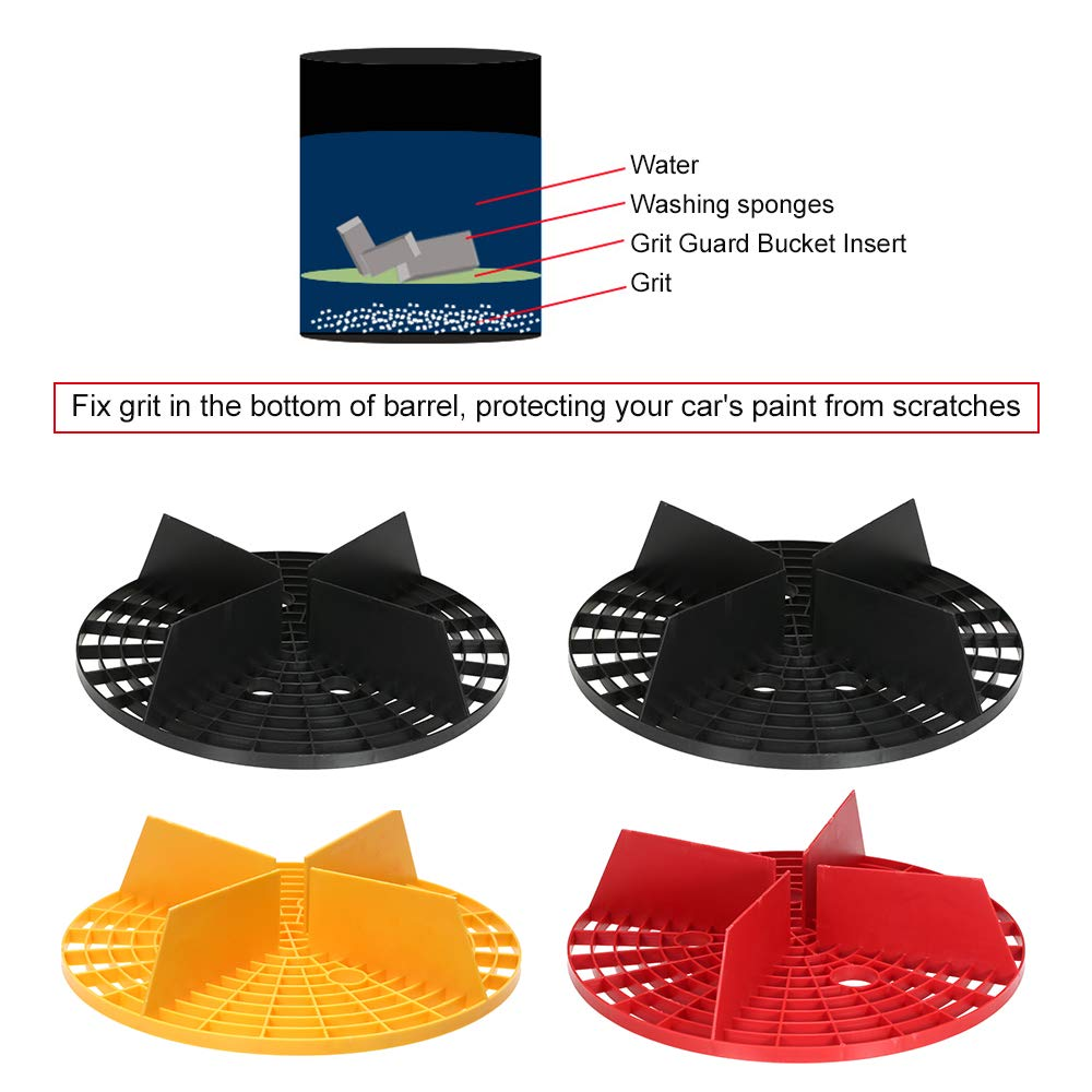 KKmoon Grit Guard Bucket Insert Car Wash Tool Separate Dirt While Washing Car Prevent Your Car from Scratches