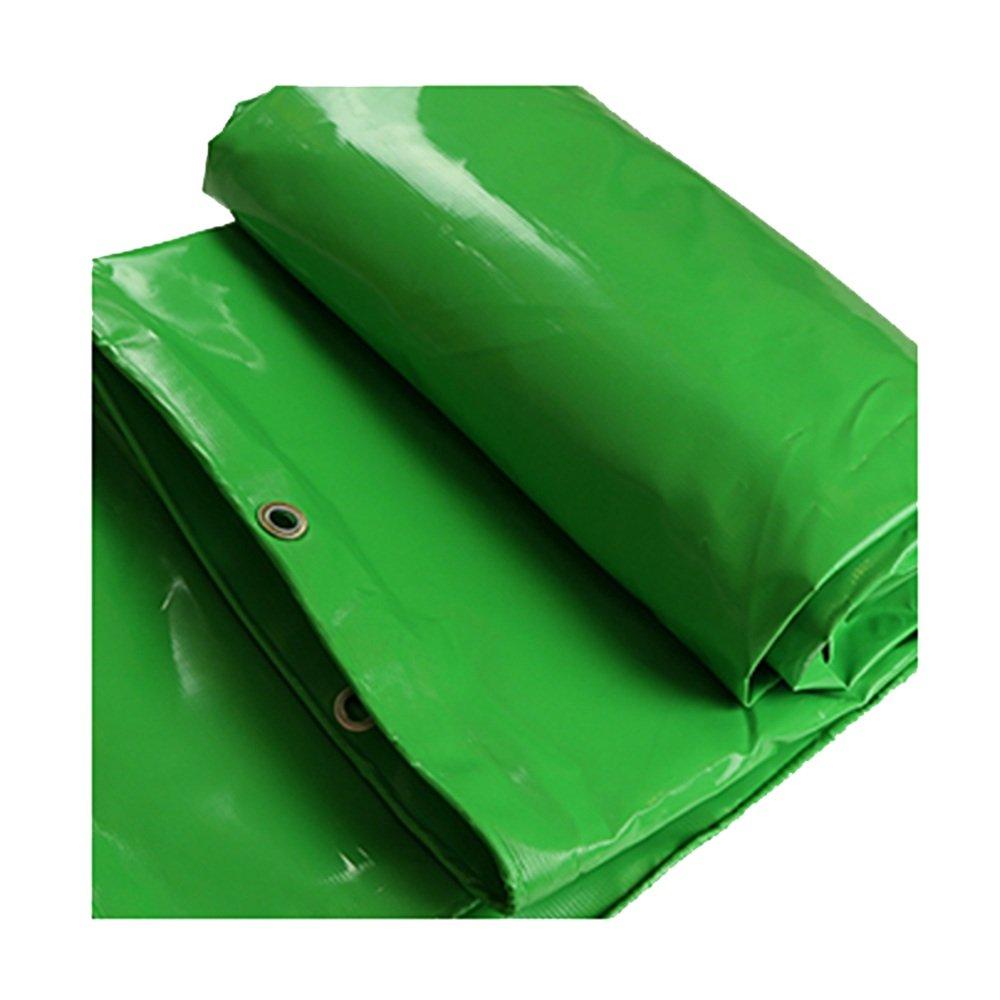 AJZGF Im Freien Plane, im Freien Wasserdichte Zelt Tuch doppelseitige feuchtigkeitsdichten Fracht staubdicht Tuch LKW Schuppen Tuch hohe Temperatur Anti-Aging (Farbe : Grün, größe : 3  3m)